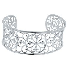 "Sterling Silver 7"" Cuff Heart Southern Gates Bracelet #southern #jewelry"