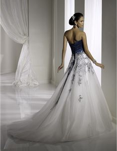midnight blue wedding dress | ... -blue-and-white-wedding-dresses-long-for-blue-wedding-dress.jpg