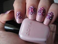 Pink Dotted Floral Bouquet Nails http://moondancerjen.blogspot.com