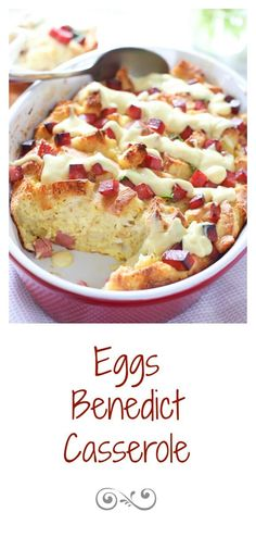 Eggs Benedict Casserole for Mothers Day Brunch! What's For Breakfast, Breakfast Items, Breakfast Dishes, Breakfast Recipes, Mexican Breakfast, Breakfast Sandwiches, Breakfast Pizza, Breakfast Casserole, Eggs Benedict Casserole