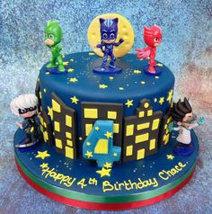 Wonderful Image of Birthday Cake Shapes For Boys . Birthday Cake Shapes For Boys Birthday Cakes For Children Of All Ages Pj Masks Birthday Cake, 22nd Birthday Cakes, Toddler Birthday Cakes, Homemade Birthday Cakes, 4th Birthday, Pjmask Party, Party Cakes, Cupcakes, Cupcake Cakes
