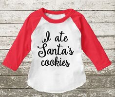 Toddler Christmas outfit I ate Santa's cookies toddler by Shop419