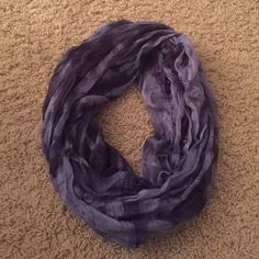 Beautiful ombré blue infinity scarf Thin material, received for Christmas but I'll never wear it. So so pretty! More blue than in picture. Accessories Scarves & Wraps
