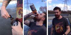 Entérate Cali: Se bebe una botella de Jack Daniel's en 15 segundo...