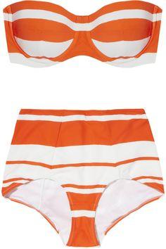 Dolce & Gabbana|Striped bandeau bikini|NET-A-PORTER.COM