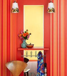 mirror, bold colors, color inspir
