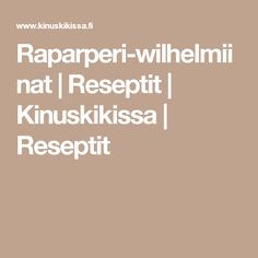 Raparperi-wilhelmiinat | Reseptit | Kinuskikissa | Reseptit