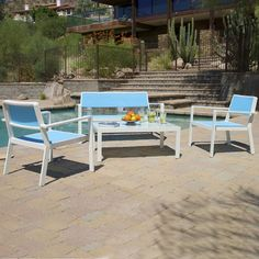 RST Brands Outdoor Sol Sling 4 Piece Seating Group with Cushions & Reviews | Wayfair
