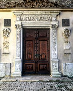 Old Doors, Peles Castle, Sinaia, Romania. A Whole New World, Our World, Beautiful Buildings, Beautiful Homes, Peles Castle, Old Doors, Front Doors, House Colors, Interior Architecture