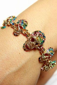 Haute Demand skull kandi bracelet