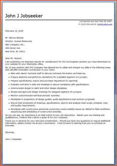cover letter for engineering job