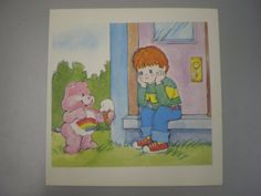 Carebears bear with ice cream    vintage by simplyproducts on Etsy, $5.00