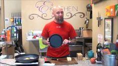 Paul of E's Kitchen demonstrates Swiss Diamond cookware. Learn more --> http://www.swissdiamond.com/