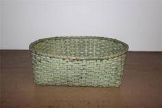 EARLY 19th CENTURY SHAKER STYLE BASKET IN OLD SAGE GREEN PAINT Sage Green Painted Finish.    sold   Ebay   175.00.     ...~♥~
