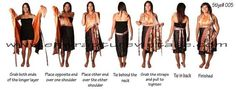 Enwrapture Vintage Silk Wrap Magic Skirts Ways to Wear Instructions and Pictures
