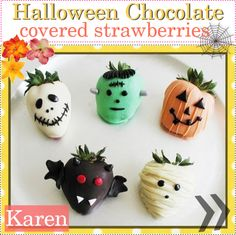 """""""Halloween chocolate covered strawberries!! 3"""" by every-girl-has-a-tip on Polyvore"""