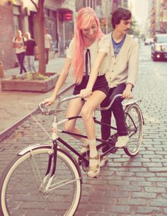Another photo of Zach and I on the tandem bike!
