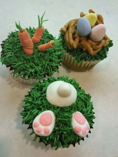 Image detail for -Sweet Dreams: Happy Easter Cupcakes! Easter Bunny Cupcakes, Easter Cookies, Easter Treats, Hoppy Easter, Easter Eggs, Mini Tortillas, Easter Party, Cupcake Cakes, Cupcake Ideas