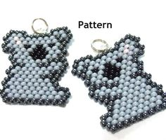 Koala Brick Stitch Pattern Bead Weaving Cute Animal by BeadCrumbs, $1.50