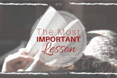What is the most important homeschool lesson?