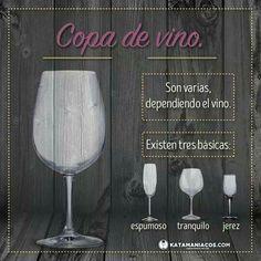 Diferencia en copas de vino