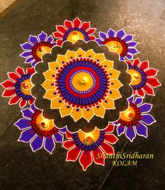 30 Beautiful Diwali Rangoli and Kolam Designs By Shanthi Easy Rangoli Designs Diwali, Indian Rangoli Designs, Rangoli Designs Latest, Simple Rangoli Designs Images, Rangoli Designs Flower, Free Hand Rangoli Design, Rangoli Border Designs, Small Rangoli Design, Rangoli Patterns