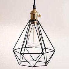 METAL CEILING LAMP IN BLACK COLOR (E27) 21X22/130