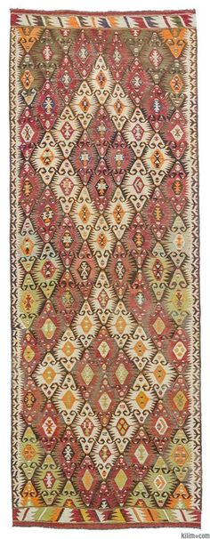 Beautiful vintage Turkish kilim rug handwoven in 1960's in the Mut region of the Taurus Mountains by the Taurus Yoruks who are migratory people of Central Asian origin.