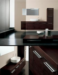 The Line Wenge Wall Hung Bathroom Cabinet (8E) by Livinghouse is a large top quality Italian wall hung bathroom furniture set up is manufactured with a real Wenge finish and produces lots and lots of storage space.
