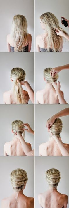 Zoom DIY- 5 Easy Summer Hairstyles ( The 3rd one uses chopsticks, and you pull them out.)