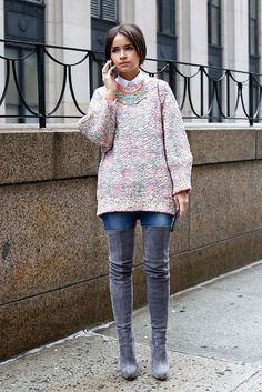 Miroslava Duma during  NYFW Fall 2013