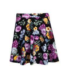 Flower print mini skirt Flower Prints, Mini Skirts, Floral, Flowers, Collection, Fashion, Florals, Floral Patterns, Moda