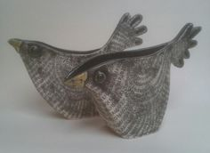 Alice Shepherd Ceramics. Bird Jugs
