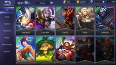 with 7 upcoming new skins [IMG] [IMG] [IMG] [IMG] All heroes have skin!(Some doesn't have) Undetected (. Bruno Mobile Legends, Miya Mobile Legends, Free Action Games, Hero Fighter, Alucard Mobile Legends, Mobile Legend Wallpaper, The Legend Of Heroes, All Hero, San Andreas