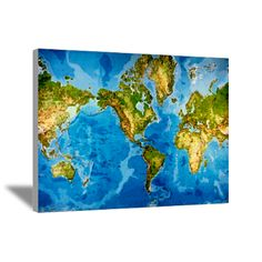 Flipped mercator map science pinterest world map canvas art gumiabroncs Image collections