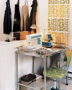 Lotta Jansdotter's sewing space
