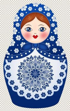33f4914b1554 Matryoshka - Russian nesting doll. Vector clipart.  folk  art  Russian   dolls