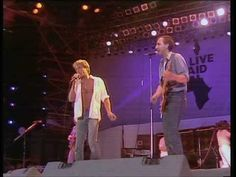 The Who ☮ Won't Get Fooled Again -- July 13, 1985 - At 12:01pm Status Quo started the 'Live Aid' extravaganza, held between Wembley Stadium, London and The JFK Stadium, Philadelphia. The cream of the world's biggest rock stars took part in the worldwide event, raising over 40million pounds. TV pictures beamed to over 1.5bn people in 160 countries made it the biggest live broadcast ever known.