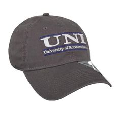 Northern Iowa Charcoal Bar Hat