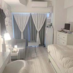 Room Design Bedroom, Home Room Design, Small Room Bedroom, Small Room Interior, Study Room Decor, Small Room Design, Minimalist Room, Cozy Room, Dream Rooms