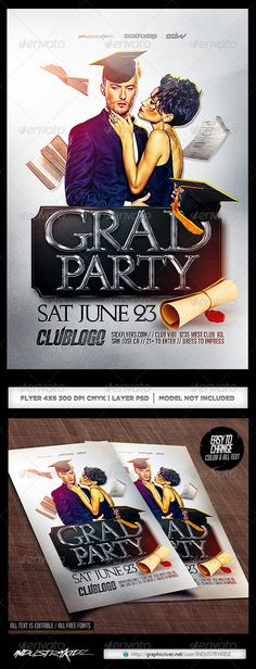 Graduation Party Post Card Template  Card Templates Post Card