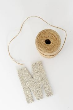 DIY German Glass Glitter Monogram Ornaments - Entertain | Fun DIY Party Craft Ideas