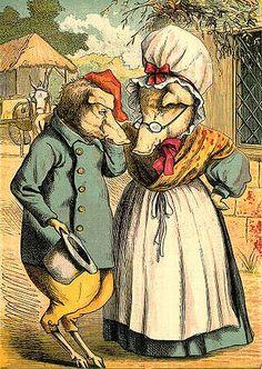 Mr and Mrs. Pig--Vintage Storybook Illustration