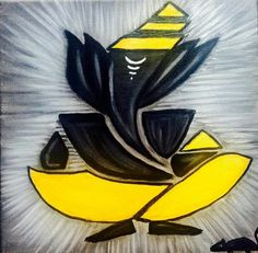 Form of Ganesha Ganesha Drawing, Ganesha Painting, Ganesha Art, Ganesh Tattoo, Ganesh Idol, Abstract Geometric Art, Abstract Canvas, Small Canvas Paintings, Creative Arts And Crafts