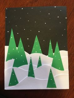 Easy DIY Christmas Card Ideas You'll Want to Send This Season - weihnachtsideen Easy DIY Christmas Card Ideas You'll Want to Send This Season Geometric Shape Christmas card Handmade Christmas Tree, Homemade Christmas Cards, Christmas Cards To Make, Christmas Crafts For Kids, Xmas Crafts, Christmas Projects, Christmas Decorations, Christmas Christmas, Christmas Card Ideas With Kids