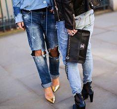 6 Ways to Make Boyfriend Jeans Look Downright Pretty via Brit + Co.