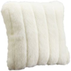 Faux mink fur pillow in white with a removable cover.  Product: PillowConstruction Material: Mod-acrylic faux fur