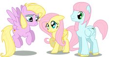 In place its Drace (me) and Jason. (Trueminecraftuniverse) as her parents XP Fluttershy, Mlp, Pegasus, My Little Pony, Disney Characters, Fictional Characters, Fan Art, Awesome Stuff, Families