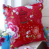 PIP Studio Coussin Birds of Paradise Red - Emil & Paula