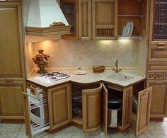 Дизайн маленькой кухни - расположение мебели